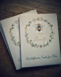 wedding favor seed packets 10 meant to bee seed packet favours seed packets bee friendly