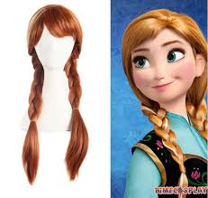 anna from frozen hairstyle frozen princess anna cosplay wigs