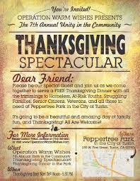 thanksgiving day in the us operation warm wishes presents the 7th annual unity in the