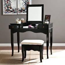 Vanity Table With Tri Fold Mirror Vanities Charming Bedroom Vanity Set Black Makeup Vanity Table