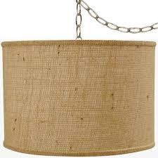 rustic vintage antique burlap swag lamp pendant light hanging
