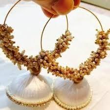 punjabi jhumka earrings silk thread earrings suppliers manufacturers in india
