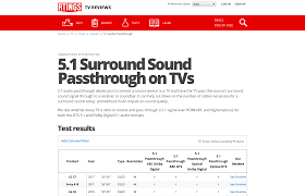 connect tv audio to home theater 5 1 surround sound passthrough on tvs