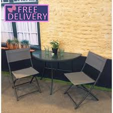 foldable balcony half table u0026 chairs the garden factory