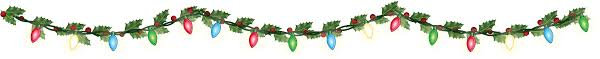 christmas garland with lights christmas garland border transparent happy holidays
