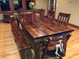Walnut Dining Room Furniture 8 Farmhouse Table In Vintage Walnut Stain