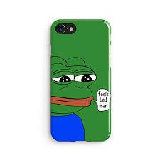 Sad Frog Meme - pepe sad frog meme iphone x case iphone 8 case samsung