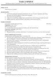 Sample Objective On A Resume Resume Sample For An Administrative Assistant Susan Ireland Resumes