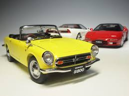 honda s800 73277 aa73277 honda s800 roadster yellow scale model collection