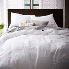 Linen Bed Frame Belgian Flax Linen Duvet Cover Shams White West Elm