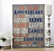 tenth anniversary gifts 10th anniversary anniversary gift tenth anniversary ten