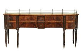 Mahogany Dining Room Sideboard Brass Accents - Dining room sideboard