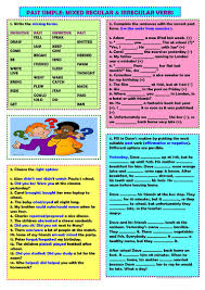 148 free esl past simple irregular verbs worksheets