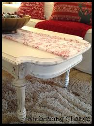 creamy white coffee table makeover