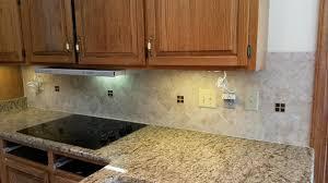 Santa Cecilia Backsplash Ideas by 6x6 Tile Backsplash With Granite