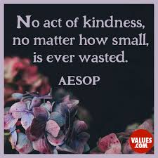 emerson quote kindness no act of kindness no matter how small is ever wasted u201d u2014aesop