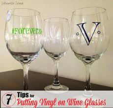 wine glass with initials putting vinyl on wine glasses 7 tips for success silhouette school