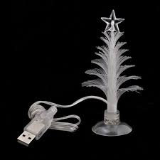 small fiber optic tree easy lighted decor glowing
