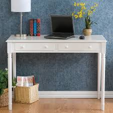 Laptop Writing Desk Southern Enterprises Crisp White 2 Drawer Laptop Writing Desk