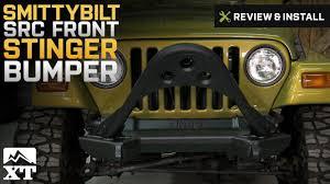 jeep stinger bumper jeep wrangler smittybilt src front stinger bumper 1987 2006 yj