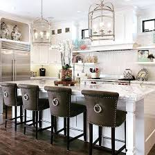 upholstered kitchen bar stools upholstered stools for kitchen white kitchen love white kitchen