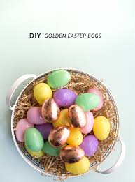 golden easter egg diy golden easter eggs say yes