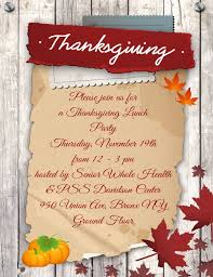 you re invited thanksgiving lunch pss davidson center