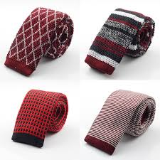 gusleson new fashion brand slim designer mens knitted neck ties