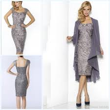 of the groom dresses grey sweetheart mothers dresses tea length sheath lace