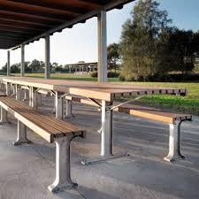 Park Bench And Table Streetscapes