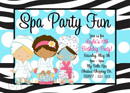 sleepover party invites printable spa party invitations spa party pinterest spa