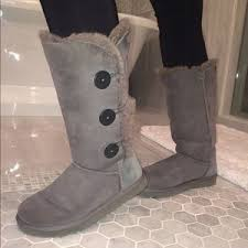 ugg boots sale bailey button 18 ugg boots bailey button triplet ugg boots grey from
