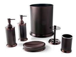 1778 pembroke 6 piece 2 tone oil rubbed bronze bath accessory set