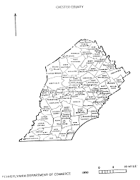 County Map Pennsylvania by Pa State Archives Mg 11 1847 Chester County Map