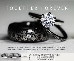 doctor who engagement ring doctor who inspired wedding 3 8mm tungsten cz swarovski