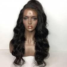 a side part with long hair and a swoop and a cross human hair wigs natural black side part long shaggy body wave