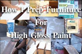 how i prep furniture for high gloss paint the resplendent crow