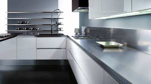 modern kitchen interior countertops backsplash contrast color kitchen design