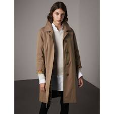 the camden long car coat in taupe brown women burberry