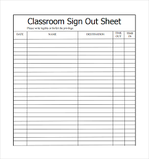 Daycare Sign In Sheet Template Sign Out Sheet Sign In Sheet Free