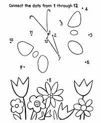 dot to dot activity page butterfly and flowers dot to dot