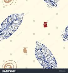 japanese wedding backdrop minimalistic ethnic feather seamless pattern modern stock