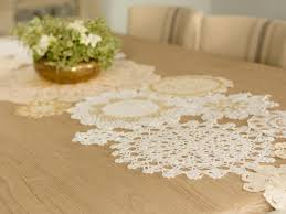 gold table runner and placemats diy holiday table runner with vintage gold lace hgtv