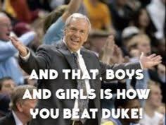 Unc Basketball Meme - tarheels beat duke google search tarheels pinterest unc