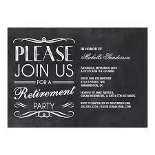 retirement party invitations chalkboard retirement party invitation card