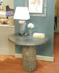 How To Make A Tree Stump End Table by Tree Stump Table U0026 Video Martha Stewart