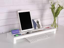 Wood Desk Organizer by Symple Stuff Wood Desktop Organizer Keyboard Bridge Wayfair
