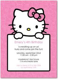 hello kitty birthday party invitations vertabox com