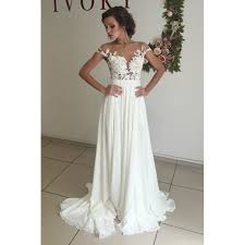 chiffon wedding dresses white chiffon wedding dresses with appliques sweep