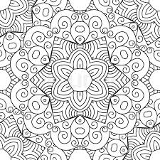 Ottoman Arabic Seamless Black And White Vector Ethnic Ornate Background Islam